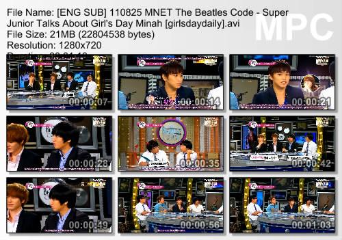 beatles code eng sub super junior 2012