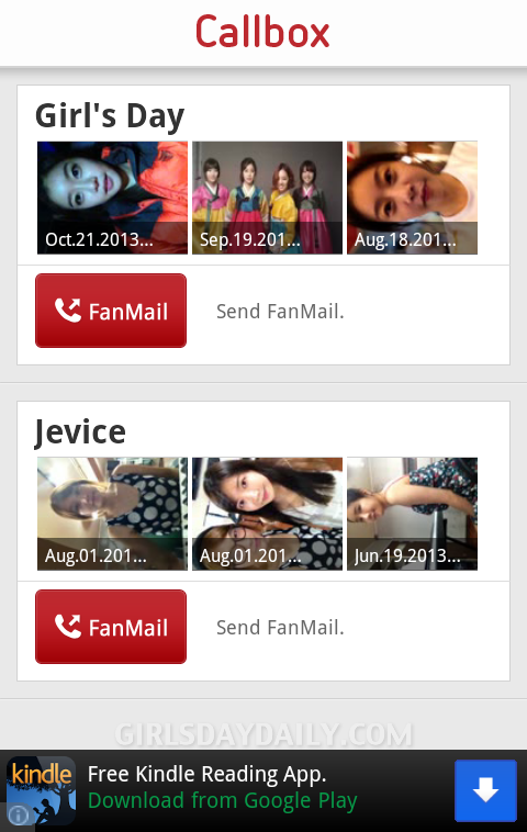 GUIDE] Girl's Day – Starcall App: Android/iPhone – Girl's Day Daily