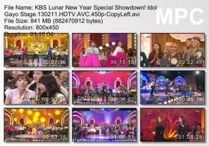 KBS Lunar New Year Special Showdown! Idol Gayo Stage