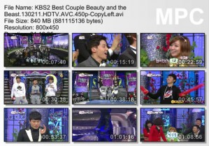 KBS2 Best Couple Beauty and the Beast
